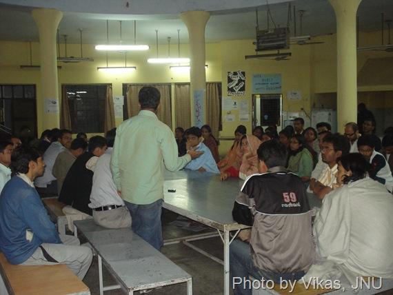 Sabarmati Hostel GBM JNU students photos