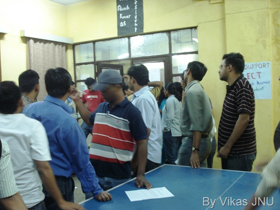 Sabarmati Hostel JNU elections 2009  Presidential debate JNU politics