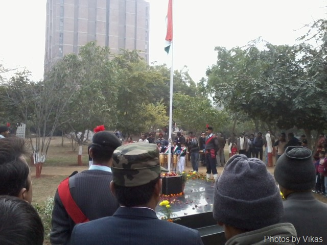 Republic day flag hoisting in JNU
